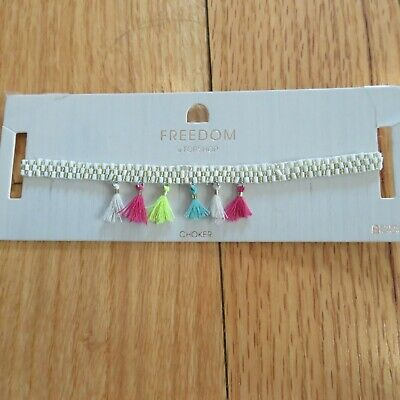 £3.57 • Buy TOPSHOP Freedom New Multi Colored Tassel Choker Necklace Jewellery RRP £10.00