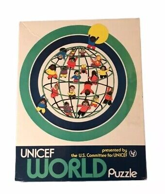 $ CDN52.93 • Buy UNICEF World Puzzle, Vintage, U.S. Committee, 20 Inches Round, Jigsaw 200 Pieces