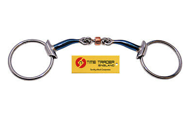 Blue Sweet Iron Loose Ring Snaffle Bit With Cooper Lozenge Horse Bit • 29.99£