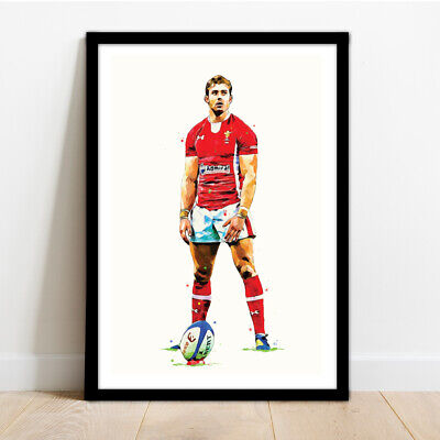 £14.99 • Buy Wales Rugby - Welsh Rugby Legend Leigh Halfpenny Framed Art Print.