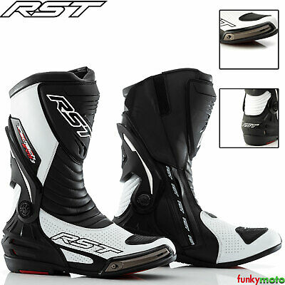 £129.99 • Buy Rst 2101 Track Tech Evo Motorcycle Sports Boots Motorbike Ce Approved White