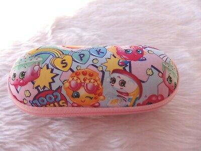 £2.99 • Buy Used - Shopkins Pink Patterned Glasses / Sunglasses Case - Proceeds To Charity