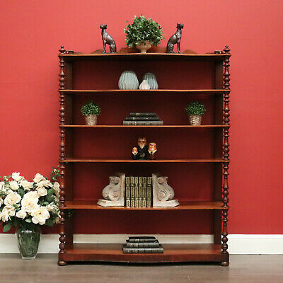 AU1125 • Buy Antique French Open Bookcase Mahogany Book Shelf Display China Shelf