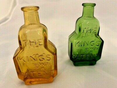 $9.99 • Buy Lot Of 2 Vintage Wheaton Amber/Green Glass Bottles - Balsam Of Life