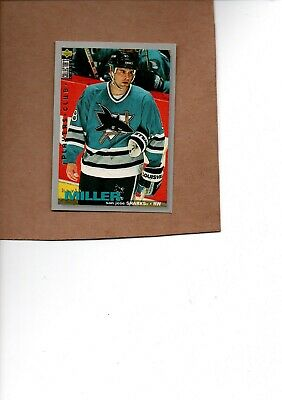 $1.25 • Buy Kevin Miller Sharks 275 1995/96 Ud Coll Choice Players Club Card