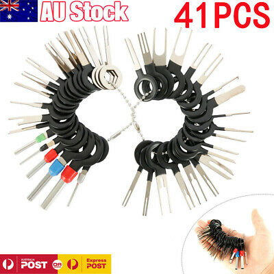 AU19.89 • Buy 41 Pcs Car Terminal Removal Tool Kit Wire Connector Pin Release Extractor Puller