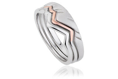 NEW Official Welsh Clogau Silver & Rose Gold Cynefin Ring SIZE M £35 OFF!  • 94£