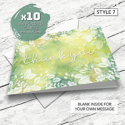 £4.45 • Buy Thank You Cards - 10 Pack - Including Envelopes - General - Birthday - Wedding