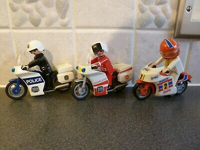 Playmobil - 3 Motorbikes - Police, Ambulance And Speed Bike  - Clean • 11.99£
