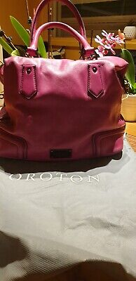 AU56 • Buy Stunning Fuchsia Genuine Leather  Oroton  Ladies Handbag