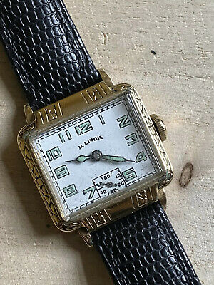 Gents Late 1920's / Early 1930's Illinois New Yorker/ Manhattan Deco Rare Watch • 250£