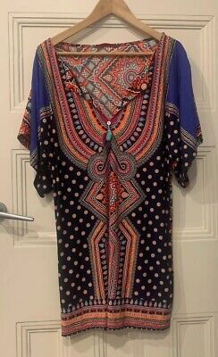 AU9.95 • Buy TIGERLILY Ladies Kaftan Printed Dress Size Small (suit Up To Size 12)
