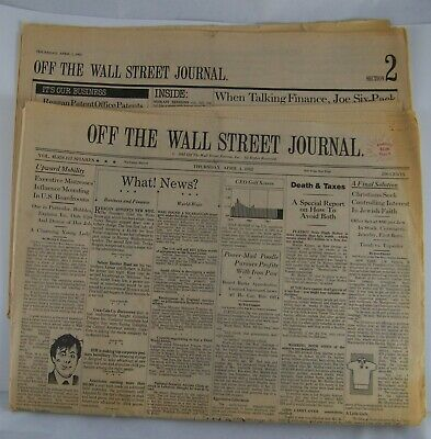 $8.95 • Buy April 1, 1982 Off The Wall Street Journal Parody Issue