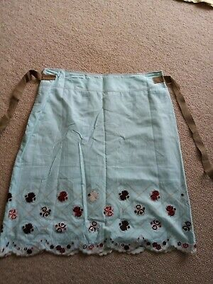 Stunning Avokc 4 Summer A Lined / Lined Cotton Skirt 14 Ladies Embroidered  • 8£