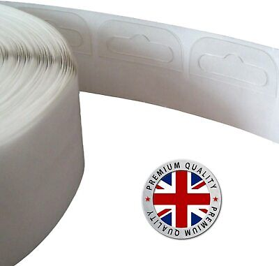 Clear Sticky Euro Hook Slot Hangers Hang Tabs Display Strong Adhesive 42mmx38mm • 3.99£