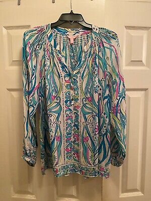$40 • Buy NWT Lilly Pulitzer Elsa Silk Top Size Large