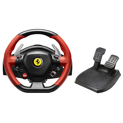 $133.50 • Buy Xbox One Steering Wheel Controller Driving Pedals Racing Video Game 458 Ferrari