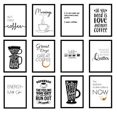 £9.99 • Buy Coffee Kitchen Quote Modern Home Office Art Prints Wall Art Unframed Posters