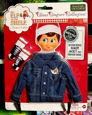 AU24.51 • Buy The Elf On The Shelf ~ Claus Couture Clothes ~ Denim Jacket And Socks.....