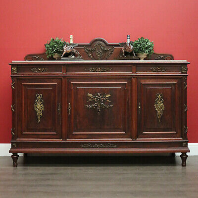AU1850 • Buy Antique French Walnut Sideboard With Marble Insert Top And Gilt Brass Mounts