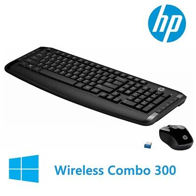AU42.95 • Buy Wireless Keyboard And Mouse HP 300 Classic Desktop Combo Bundles For Laptop USB