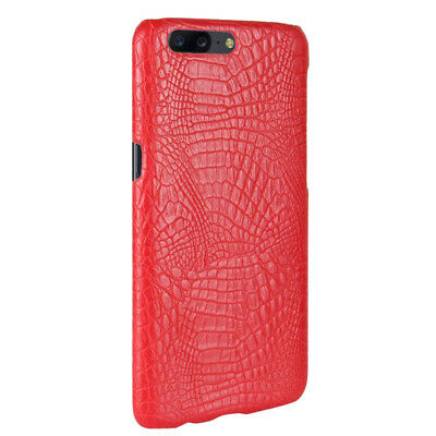 AU2.99 • Buy Luxury Ultra-thin Slim Crocodile PC+leather Back Case Cover Skin For OnePlus 5T