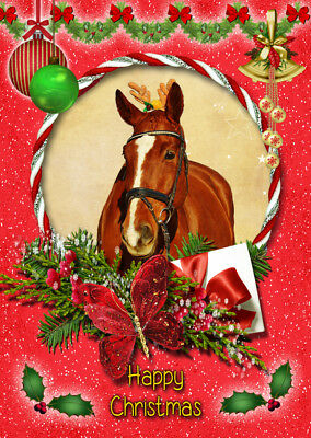 £3.35 • Buy Horse Christmas Greeting Card