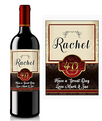 £2.90 • Buy Personalised Birthday Anniversary Wine Bottle Label A28