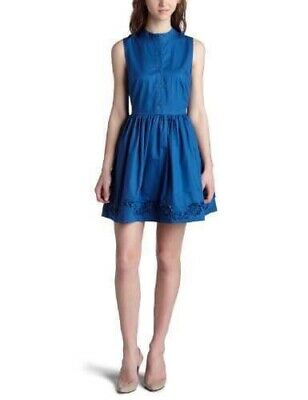 AU45 • Buy NEW URBAN OUTFITTERS Blue BB DAKOTA Button Up Fit & Flare Mini Dress L 12-14