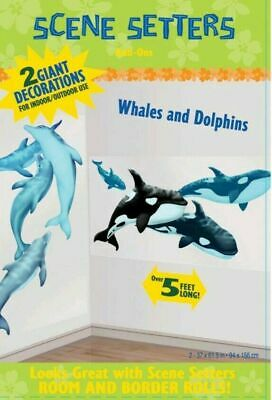 5FT Hawaiian Luau Under Sea Party Whales Dolphins Wall Scene Banner Decoration  • 4.99£