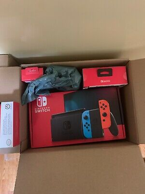 $395 • Buy Nintendo Switch Neon Red And Neon Blue Joy-Con Console (BUNDLE IN HAND)!!!!