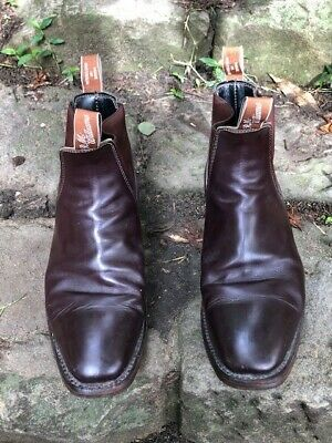 AU285 • Buy RM Williams Comfort Craftsman Chestnut Boots Mens Size 9 Great Condition