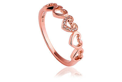 NEW Welsh Clogau 9ct Rose Gold Cariad Ring £100 Off! SIZE R • 160£
