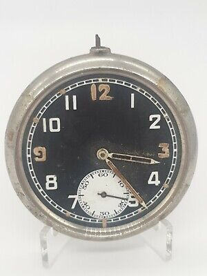 WW2 Record Calibre 433 Military Pocket Watch Spares Or Repairs • 5.50£