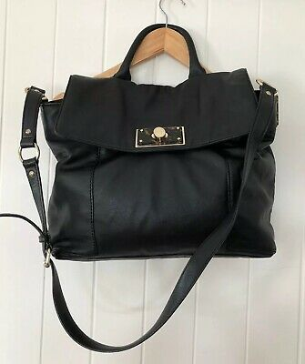 AU139 • Buy Oroton Luxe Black Calf Leather Shoulder Bag / Handbag / Majestic Satchel