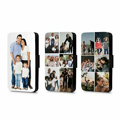 Personalised Flip Wallet Phone Case Photo Faux Leather For IPhone 12 / Samsung  • 10.99£