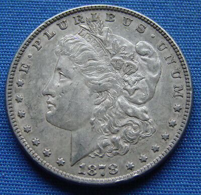 $36 • Buy NICE LOOKING 1878-P MORGAN SILVER DOLLAR  7 Over 8 TAIL FEATHER  - ESTATE FRESH