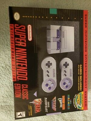 $ CDN204.49 • Buy Nintendo Super NES Console Classic Edition SNES Gaming Brand New Unopened Games