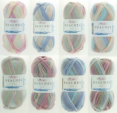 King Cole Beaches DK Yarn Double Knitting Multicoloured Acrylic Wool & Patterns • 5.60£