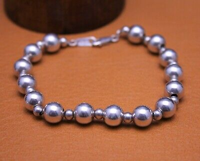 $16.50 • Buy CHARLES WINSTON 8mm  Ball Bead  Bracelet Sterling Silver Size 7  Signed CW