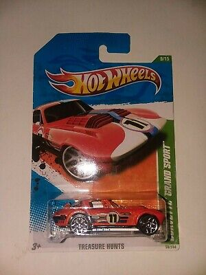 $7 • Buy Hot Wheels 2011 Treasure Hunt Corvette Grand Sport, MOC
