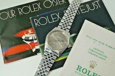 $ CDN7316.24 • Buy ROLEX 16030 DATEJUST QUICK SET JUBILEE STAINLESS STEEL W/ BOOKS PAPERS SOLD 1981