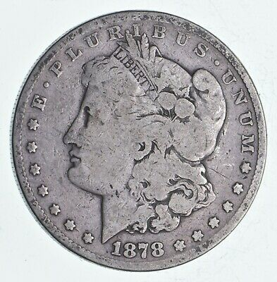 $8 • Buy First Year - 1878 Morgan Silver Dollar - Tough Coin Unchecked For Varieties *219