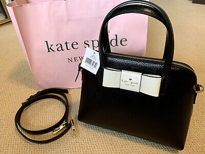 $97 • Buy Kate Spade Matthews Street Maise, Black/Cement Handbag New With Tag