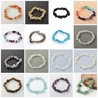 Gemstone Chip Bracelet Crystal Healing Reiki Meditation Yoga  • 3.49£
