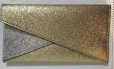 $35.95 • Buy 10 * Estee Lauder Makeup Cosmetic Bag Or Clutch Faux Leather Gold/Silver 19M NEW