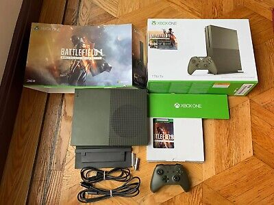 $225 • Buy Xbox One S Battlefield 1 Military Green Special Edition Bundle 1TB Console Game