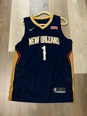 $25 • Buy NBA New Orleans Pelicans Zion Williamson Stitched Jersey Navy Size 50