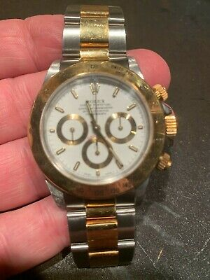$11493 • Buy ROLEX Daytona Gold/Stainless, White Face, ZENITH Movement.