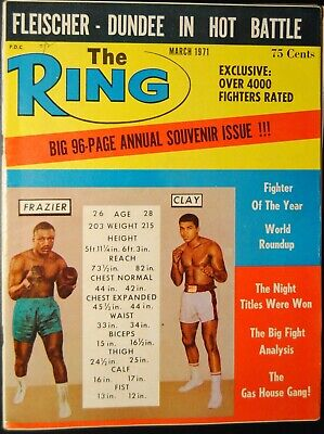 $9.99 • Buy 1971 The Ring Magazine-Muhammad Ali Cassius Clay Joe Frazier #
